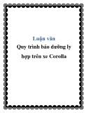 Luận văn Quy trình bảo dưỡng ly hợp trên xe Corolla