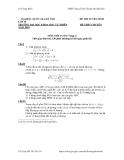 ĐỀ THI TUYỂN SINH LỚP 10 TRƯỜNG ĐẠI HỌC KHOA HỌC TỰ NHIÊN HỆ THPT CHUYÊN NĂM 2010 MÔN TOÁN - VÒNG 2