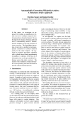 """Báo cáo khoa học: """"Automatically Generating Wikipedia Articles: A Structure-Aware Approach"""""""
