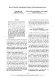 "Báo cáo khoa học: ""Robust Machine Translation Evaluation with Entailment Features∗"""