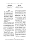"""Báo cáo khoa học: """"Latent Variable Models of Concept-Attribute Attachment"""""""
