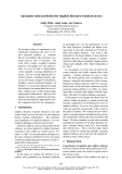 """Báo cáo khoa học: """"Automatic sense prediction for implicit discourse relations in text"""""""