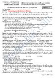 ĐỀ THI THỬ ĐẠI HỌC LẦN 2 KHỐI A,B (2012-2013) - SỞ G D & Đ T QUẢNG NAM TRƯỜNG THPT SÀO NAM - Mã đềthi132