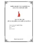 Báo cáo tiểu luận: Dinh dưỡng cho người cao huyết áp