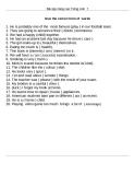 Bài tập nâng cao Tiếng Anh  7