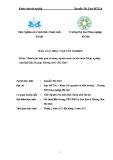 """luận văn: """"Đánh giá hiệu quả sử dụng nguồn nước tại mô hình Nông nghiệp sinh thái Khe Soong- Hương Sơn- Hà Tĩnh"""""""