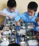 Bữa ăn cho học sinh cấp 1