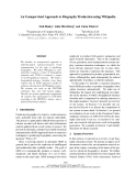 """Báo cáo khoa học: """"An Unsupervised Approach to Biography Production using Wikipedia"""""""