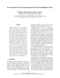"""Báo cáo khoa học: """"Pivot Approach for Extracting Paraphrase Patterns from Bilingual Corpora"""""""