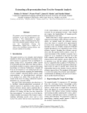 """Báo cáo khoa học: """"Extracting a Representation from Text for Semantic Analysis"""""""