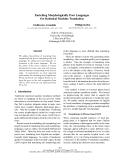 "Báo cáo khoa học: ""Enriching Morphologically Poor Languages for Statistical Machine Translation"""