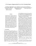 "Báo cáo khoa học: ""A Tree Sequence Alignment-based Tree-to-Tree Translation Model"""