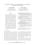 """Báo cáo khoa học: """"Intensional Summaries as Cooperative Responses in Dialogue: Automation and Evaluation"""""""