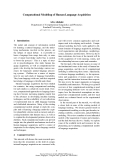 "Báo cáo khoa học: ""Computational Modeling of Human Language Acquisition"""
