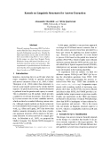 """Báo cáo khoa học: """"Kernels on Linguistic Structures for Answer Extraction"""""""