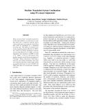 "Báo cáo khoa học: ""Machine Translation System Combination using ITG-based Alignments∗"""