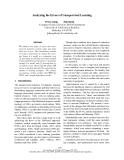 "Báo cáo khoa học: ""Analyzing the Errors of Unsupervised Learning"""