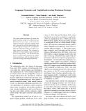 "Báo cáo khoa học: ""Language Dynamics and Capitalization using Maximum Entropy"""
