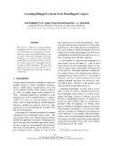 "Báo cáo khoa học: ""Learning Bilingual Lexicons from Monolingual Corpora"""