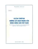 Giáo trình Đường lối cách mạng của Đảng Cộng sản Việt Nam - Bộ Giáo dục và Đào tạo