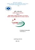 ĐỀ TÀI: HOẠT ĐỘNG QUẢN TRỊ THÔNG TIN TRONG PHÒNG TM &DV TẬP ĐOÀN INCOMEX SAIGON