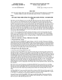 Báo cáo số 06/BC-HĐGDQPANTW