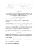Quyết định số 08/2013/QĐ-UBND