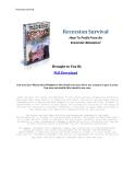 Recession Survival