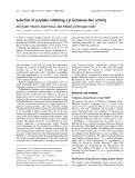 Báo cáo khoa học: Selection of peptides inhibiting a b-lactamase-like activity