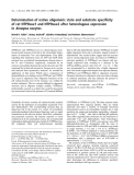 Báo cáo khoa học: Determination of native oligomeric state and substrate specificity of rat NTPDase1 and NTPDase2 after heterologous expression in Xenopus oocytes