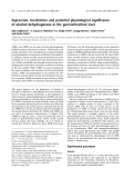 Báo cáo khoa học:  Expression, localization and potential physiological significance of alcohol dehydrogenase in the gastrointestinal tract