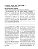 Báo cáo khoa học: Selectivity of pyruvate kinase for Na+ and K+ in water/dimethylsulfoxide mixtures