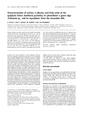Báo cáo khoa học: Characterization of surface n -alkanes and fatty acids of the epiphytic lichen Xanthoria parietina, its photobiont a green alga Trebouxia sp., and its mycobiont, from the Jerusalem hills
