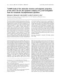 Báo cáo khoa học: H NMR study of the molecular structure and magnetic properties of the active site for the cyanomet complex of O2-avid hemoglobin from the trematode Paramphistomum epiclitum