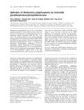 Báo cáo khoa học: Hydrolysis of diadenosine polyphosphates by nucleotide pyrophosphatases/phosphodiesterases
