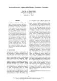 "Báo cáo khoa học: ""Stochastic Iterative Alignment for Machine Translation Evaluation"""