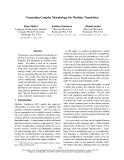 "Báo cáo khoa học: ""Generating Complex Morphology for Machine Translation"""