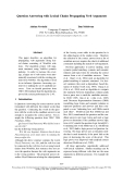"""Báo cáo khoa học: """"Question Answering with Lexical Chains Propagating Verb Arguments"""""""