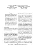 "Báo cáo khoa học: ""Transductive learning for statistical machine translation"""