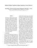 """Báo cáo khoa học: """"Statistical Machine Translation for Query Expansion in Answer Retrieval"""""""