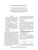 "Báo cáo khoa học: ""Minimum Bayes Risk Decoding for BLEU"""