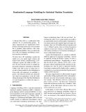 "Báo cáo khoa học: ""Randomised Language Modelling for Statistical Machine Translation"""