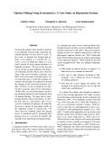 "Báo cáo khoa học: ""Opinion Mining Using Econometrics: A Case Study on Reputation Systems"""