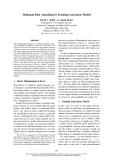 "Báo cáo khoa học: ""Minimum Risk Annealing for Training Log-Linear Models∗"""