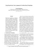 "Báo cáo khoa học: ""Using Mazurkiewicz Trace Languages for Partition-Based Morphology"""
