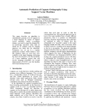 """Báo cáo khoa học: """"Automatic Prediction of Cognate Orthography Using Support Vector Machines"""""""