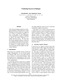 "Báo cáo khoa học: ""Predicting Success in Dialogue"""