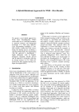 """Báo cáo khoa học: """"A Hybrid Relational Approach for WSD – First Results"""""""