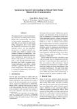"""Báo cáo khoa học: """"Spontaneous Speech Understanding for Robust """""""