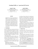 "Báo cáo khoa học: ""Extending MARIE: an N -gram-based SMT decoder"""